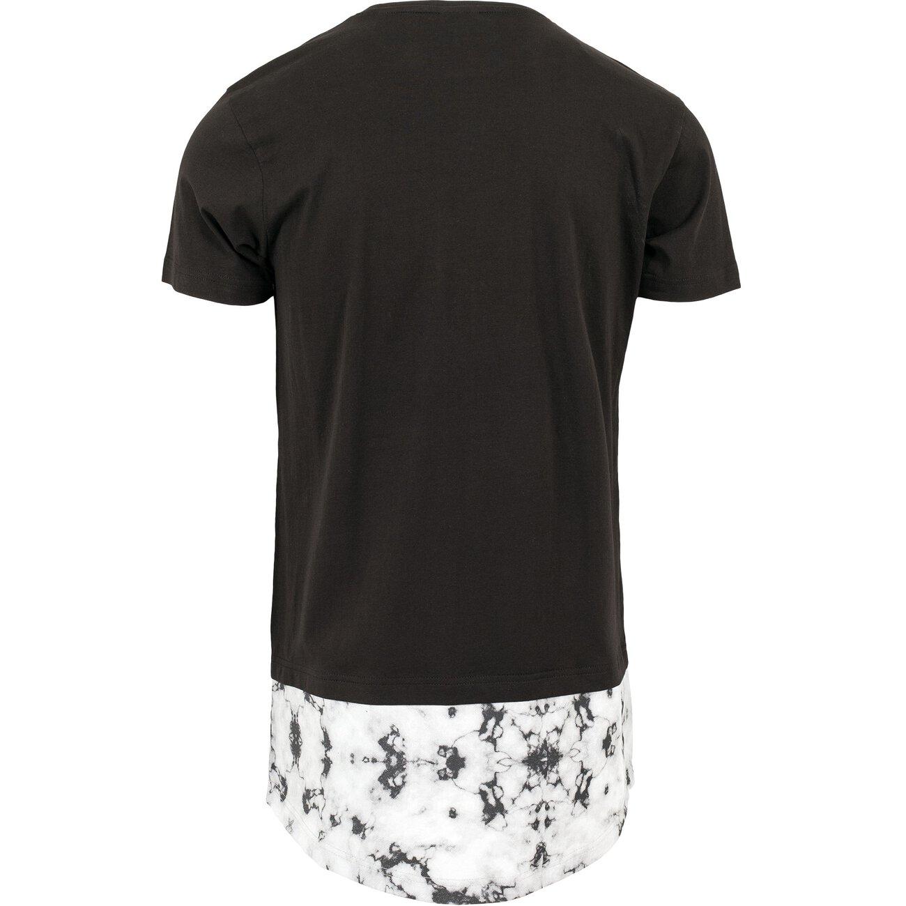 urban classics t shirt long shaped marble kurzarmshirt tb 1223. Black Bedroom Furniture Sets. Home Design Ideas