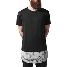 Urban Classics T-Shirt Herren Long Shaped Marble Kurzarm...