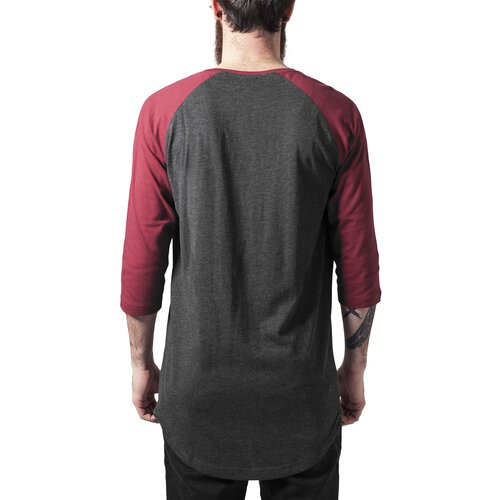 Urban Classics T-Shirt Herren Raglan 3/4-Arm Pocket Kurzarm Shirt TB-1230