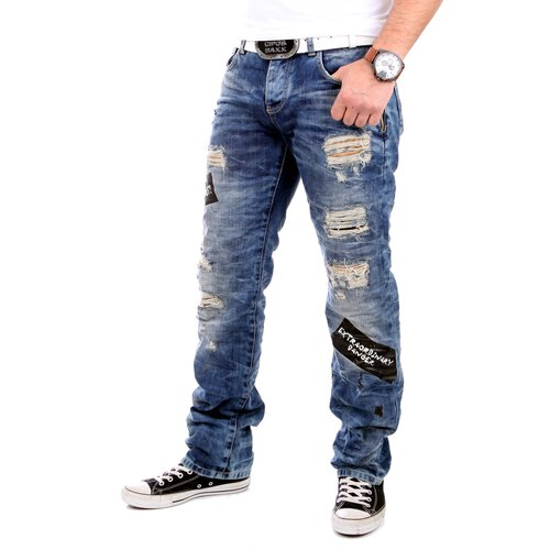 Redbridge Jeans Herren Destroyed Vintage Look Jeanshose RB-41018 Blau