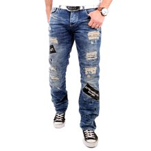 5c74d03128f8 Redbridge Jeans Herren Destroyed Vintage Look Jeanshose RB-41018 Blau W30    L32