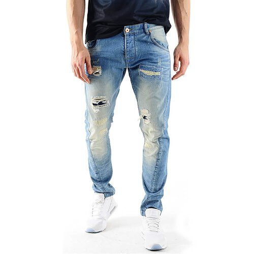 VSCT Jeans Herren Hank Twisted Sunfaded Destroyed Jeanshose V-5641586 Blau