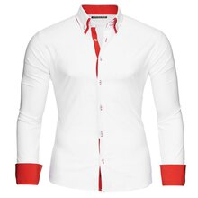 hemd weiß rot