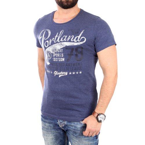 ... Reslad T-Shirt Herren PORTLAND Motiv Print Kurzarm Shirt RS-1963 ...