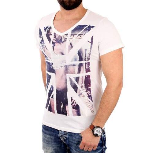 Reslad T-Shirt Herren ROYAL CHIC Motiv Print Kurzarm Shirt RS-2061
