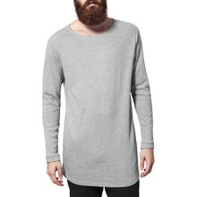 Urban Classics Langarmshirt Herren Long Shaped Struktur...