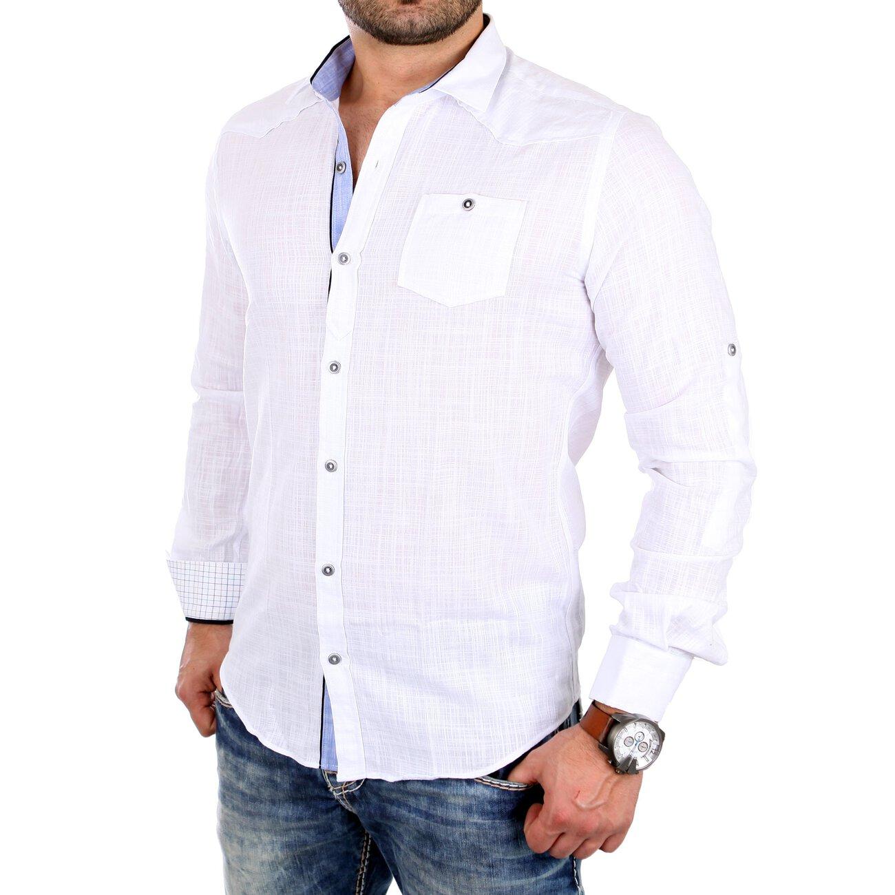 reslad herren hemd casual melange look freizeit langarmhemd rs 16001. Black Bedroom Furniture Sets. Home Design Ideas