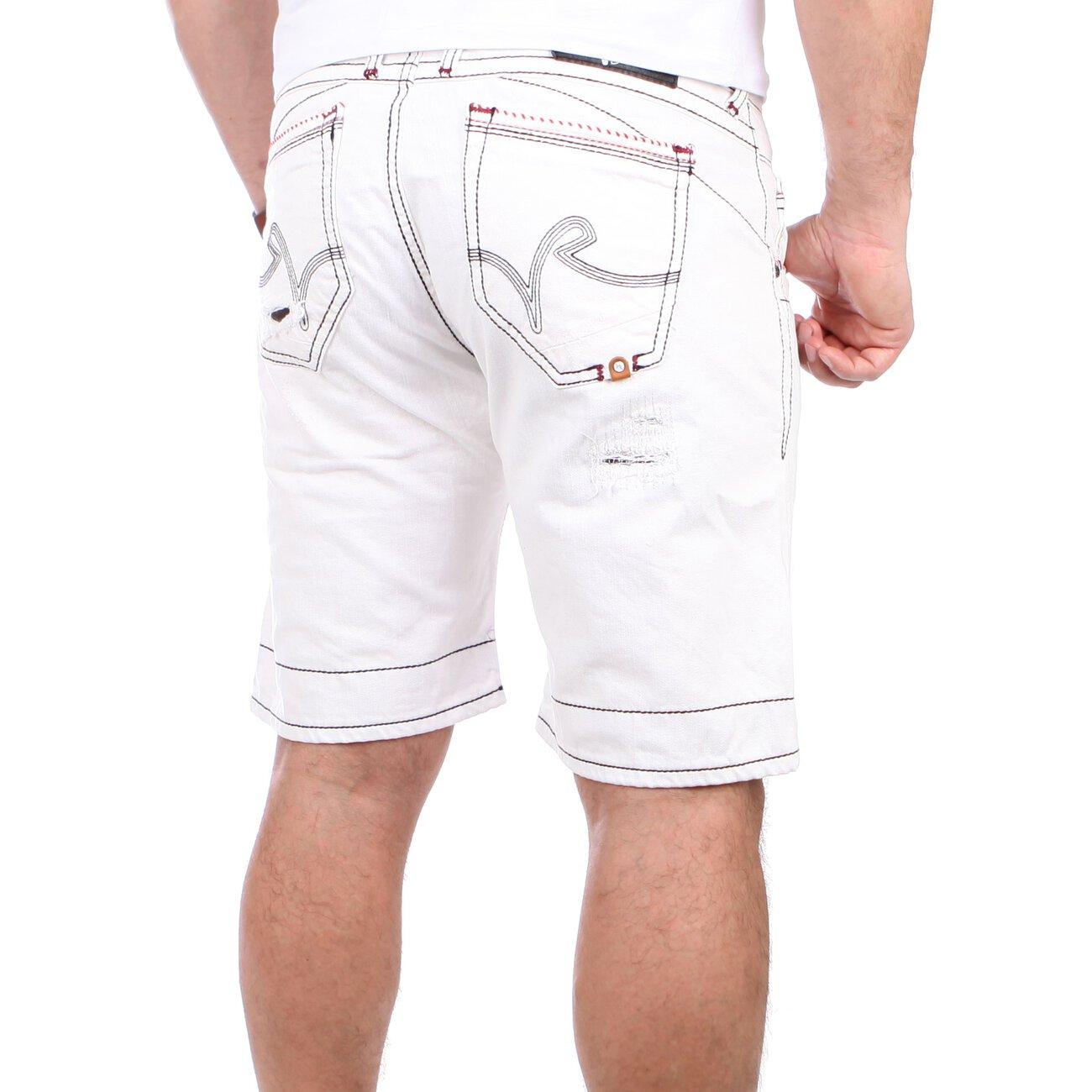 rusty neal jeans shorts herren yokote capri rn 12040 wei. Black Bedroom Furniture Sets. Home Design Ideas