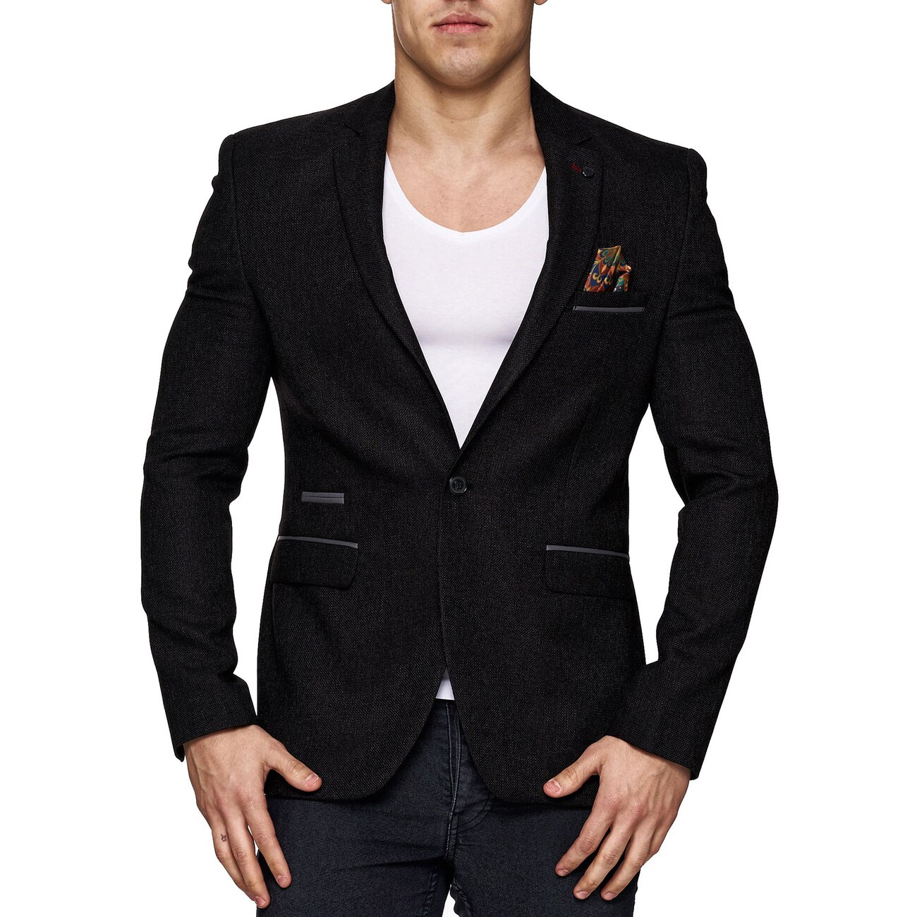 reslad sakko herren slim fit casual freizeit jacke rs 20158. Black Bedroom Furniture Sets. Home Design Ideas