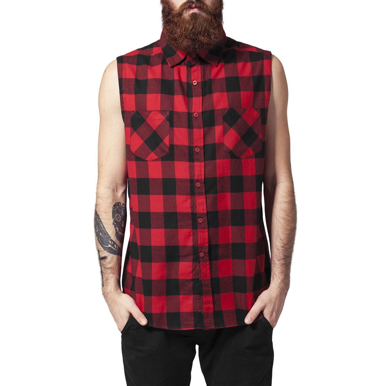 urban classics rmelloses hemd herren sleeveless flanellhemd tb 999. Black Bedroom Furniture Sets. Home Design Ideas