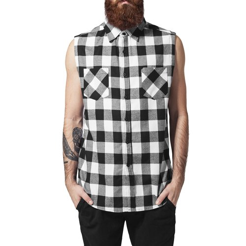 Urban Classics Hemd Herren Sleeveless Checked Flanell Shirt TB-999