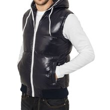 Urban Classics Herren Hooded Bubble Weste TB-332
