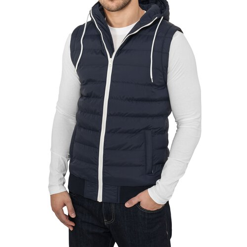 Urban Classics Herren Kapuzen Stepp Bubble Hooded Weste TB-510