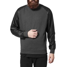 Urban Classics Sweatshirt Herren Raglan Leather Imitation...