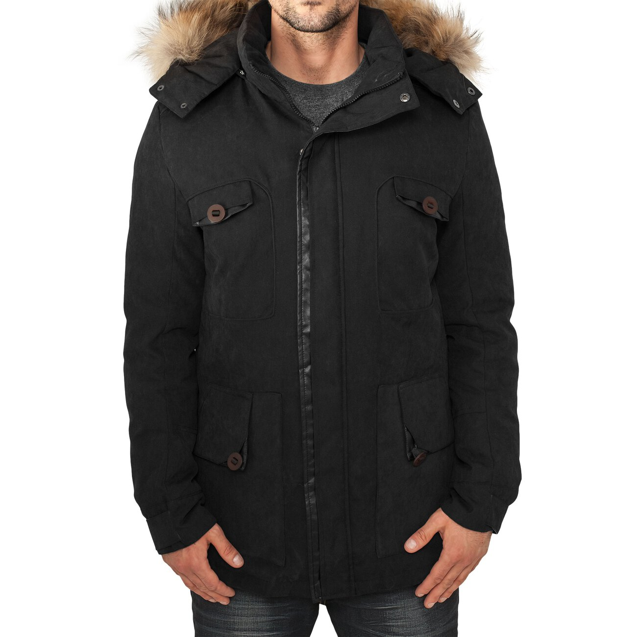 urban classics winterjacke herren expedition daunen parka jacke tb 57. Black Bedroom Furniture Sets. Home Design Ideas