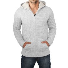 Urban Classics Sweatjacke Herren Winter Knit Zip Hoody...