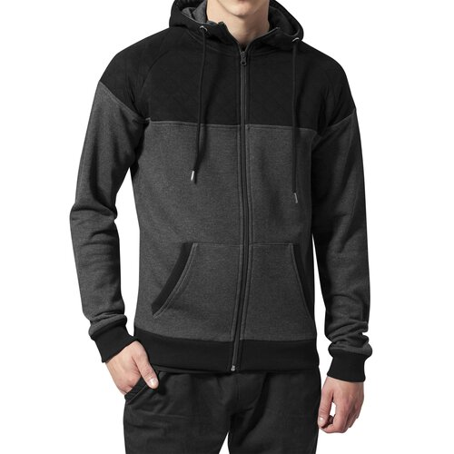 Urban Classics Sweatjacke Herren Diamond Block Zip Hoody TB-829