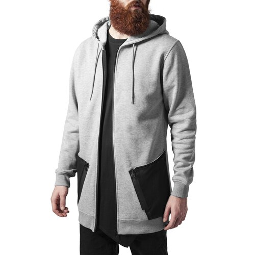 Urban Classics Sweatjacke Herren Long Peached Tech Zip Hoody TB-1240