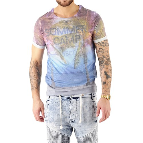 VSCT T-Shirt Herren Summer Camp Full Print Motivdruck Shirt V-5641728