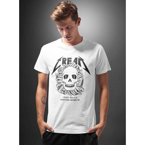 Mister Tee T-Shirt Herren CREAM SKULL Motiv Print Shirt MT-379 Weiß ... eaca9b1659