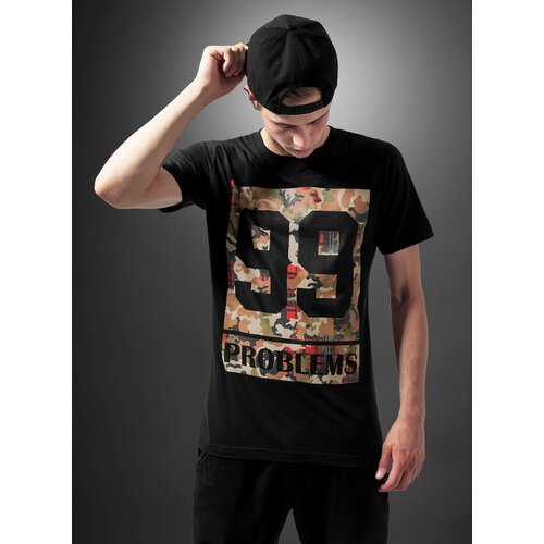 Mister Tee T-Shirt Herren 99 PROBLEMS BLOCK CAMO Print Shirt MT-388 Schwarz