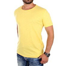 Young & Rich T-Shirt Herren Basic Jersey Kurzarm Shirt...