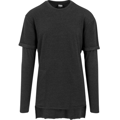 Urban Classics Sweatshirt Herren Long 2in1 Terry Crewneck TB-1387