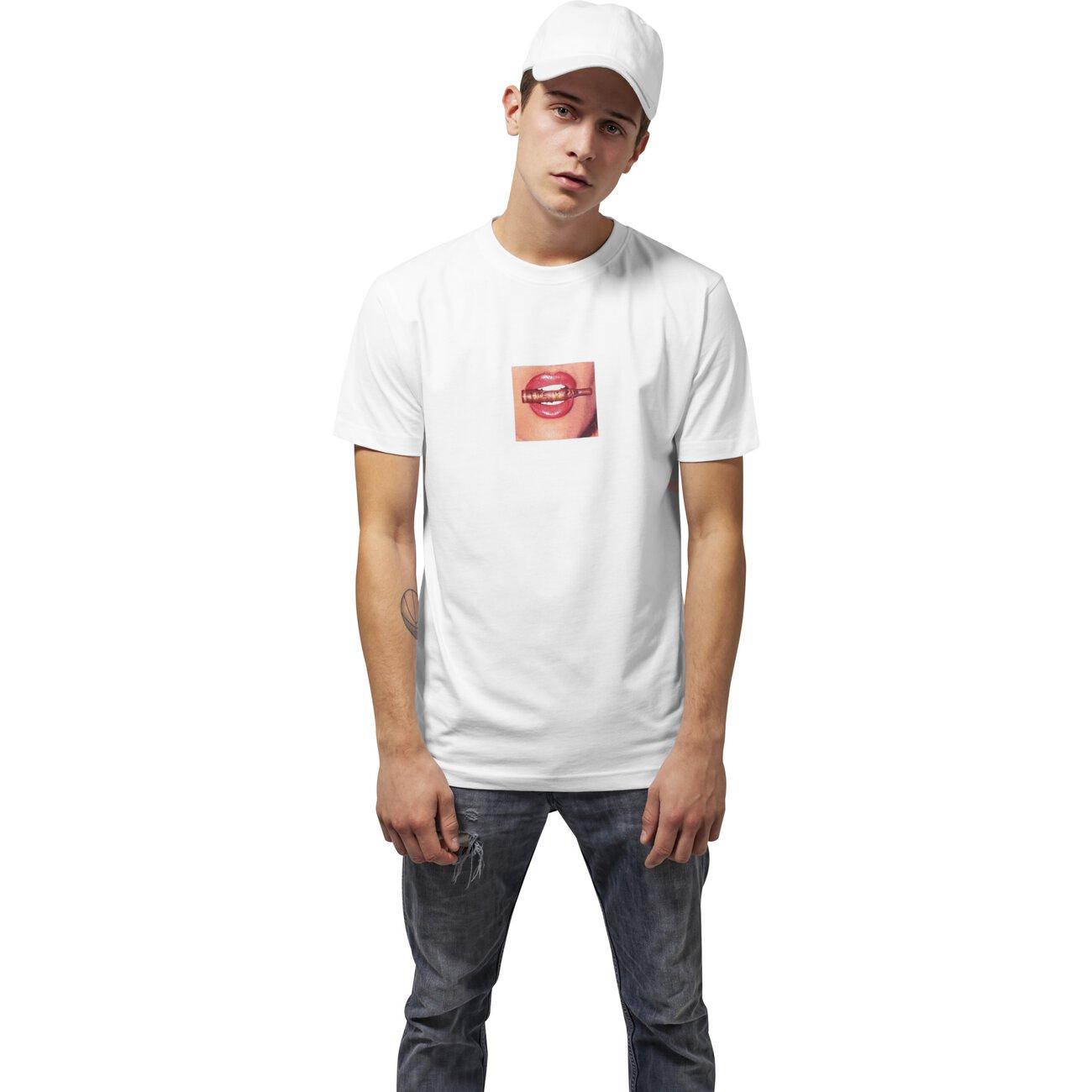 mister tee t shirt herren life is pain print shirt mt 419 wei. Black Bedroom Furniture Sets. Home Design Ideas