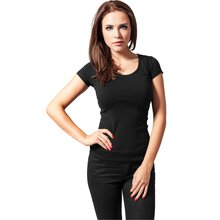 Urban Classics T-Shirt Damen Basic Shirt mit weitem...