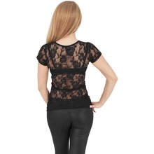 Urban Classics T-Shirt Damen Back Laces Spitze-Rücken...