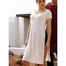 Urban Classics T-Shirt Damen Side Slit Viscose Longshirt...