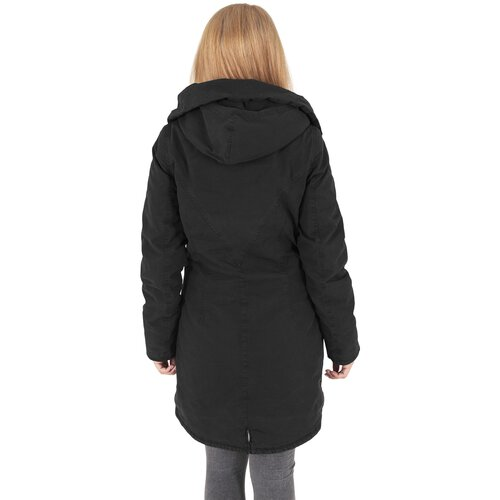 Urban Classics Winterjacke Damen Garment Washed Parka Damenjacke TB-1088