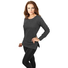 Urban Classics Sweatshirt Damen Side Zip Long Crewneck...