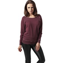Urban Classics Sweatshirt Damen Burnout Open Edge...