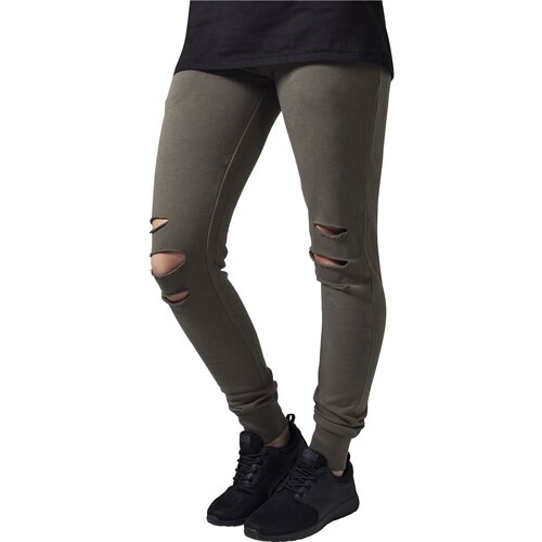 Urban Classics Jogginghose Damen Cutted Terry Sport-Hose Sweatpant TB-1304