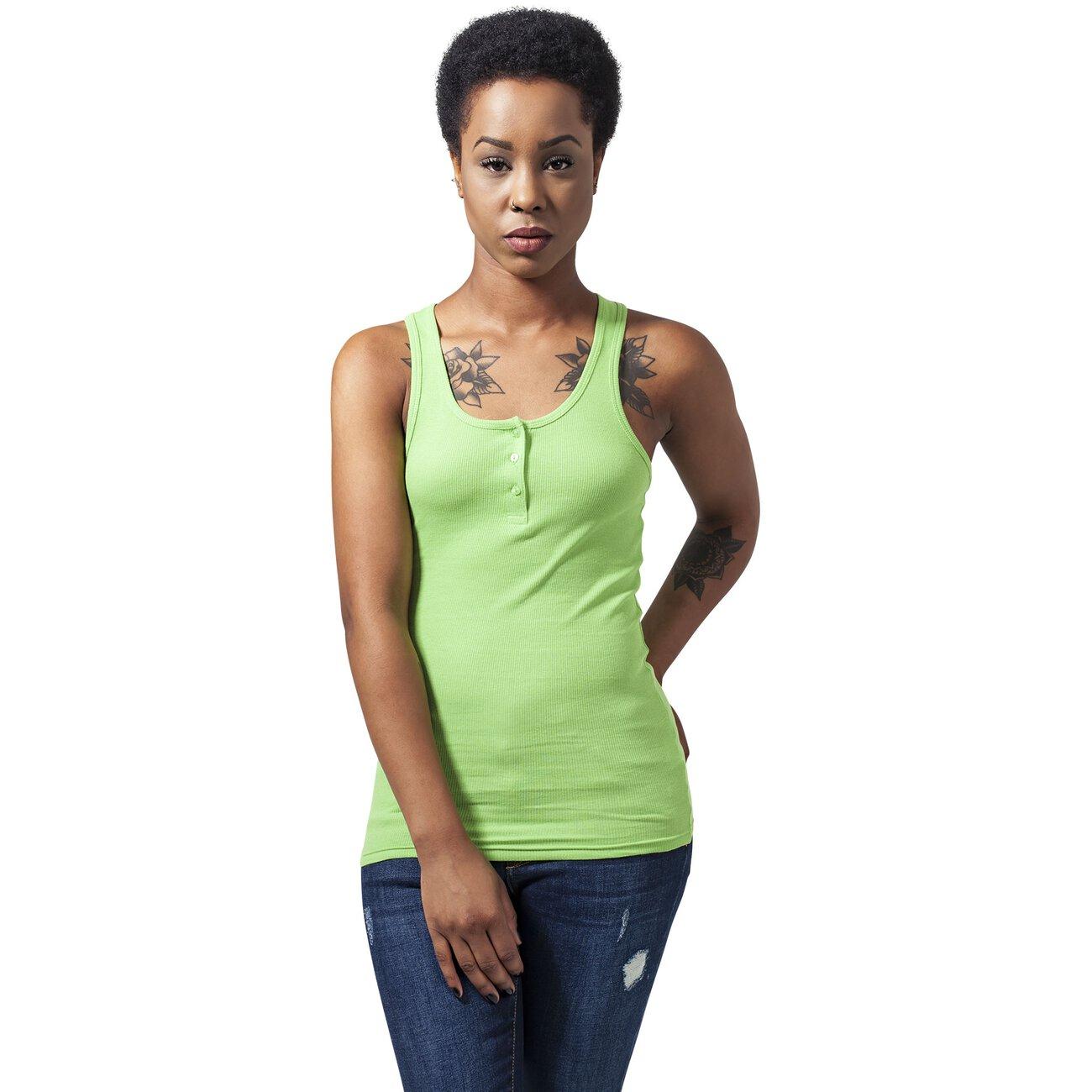 urban classics tank top damen shirt mit knopfleiste tb 452. Black Bedroom Furniture Sets. Home Design Ideas