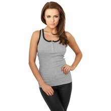 Urban Classics Tank Top Damen Button Laces Singlet Shirt...