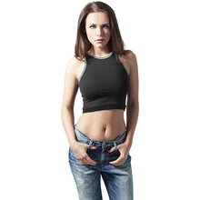 Urban Classics Damen Top Tech Cropped Singlet Shirt...