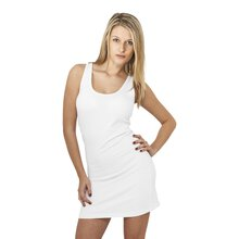 Urban Classics Damen Kleid Ärmelloses Slim Fit Basic...