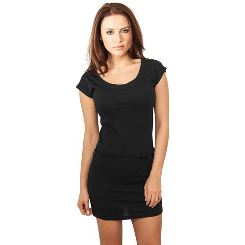 Urban Classics Damen Kleid Figurbetonter Slub Jersey Dress TB-923