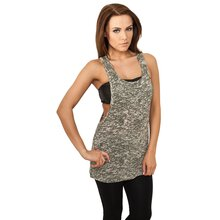 Urban Classics Tank Top Damen Melange Burnout Loose...