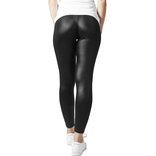 Urban Classics Leggings Damen Kunstleder-Optik Damenhose TB-947 Schwarz