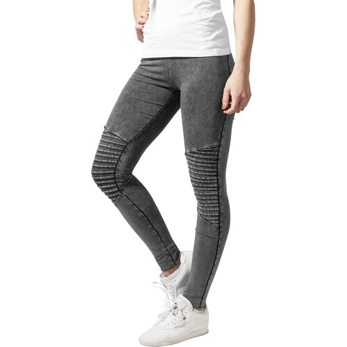 Urban Classics Leggings Damen Denim-Optik Biker Look Damenhose TB-1056
