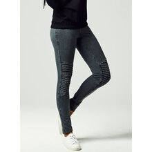 Urban Classics Leggings Damen Denim-Optik Biker Look...