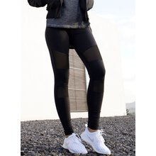 Urban Classics Leggings Damen Tech Mesheinsatz Damenhose...