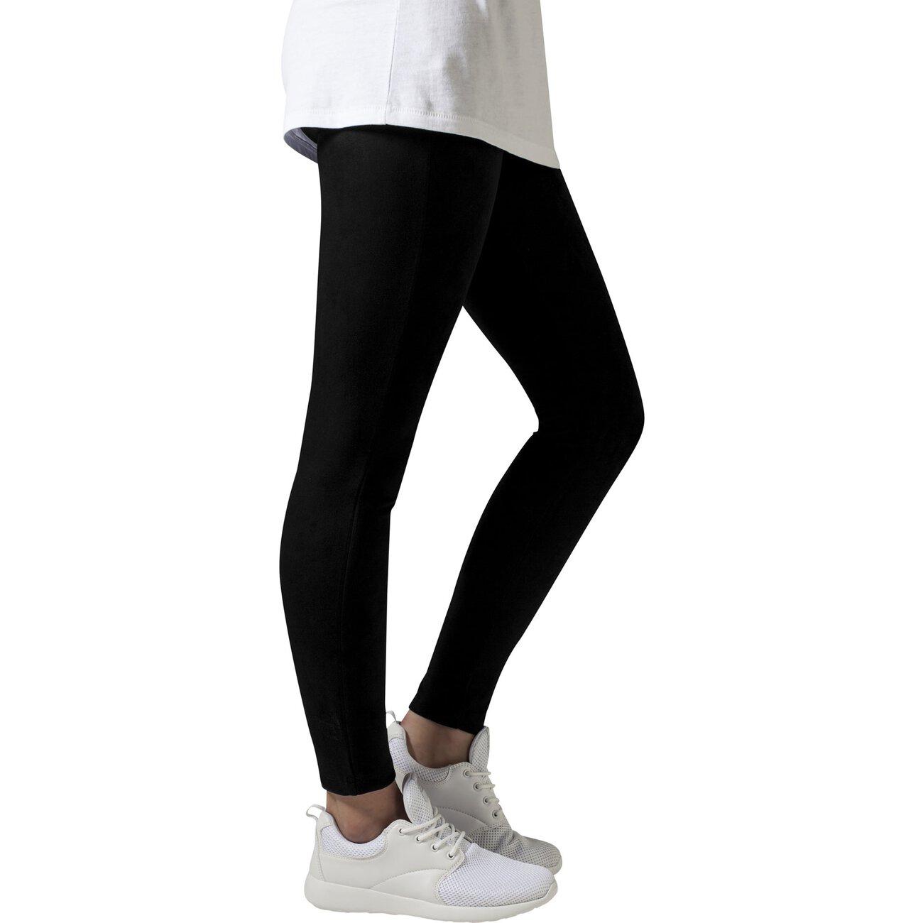 wildleder style leggings damen urban classics suede damenhose schwarz. Black Bedroom Furniture Sets. Home Design Ideas