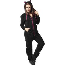 Urban Classics Jumpsuit Damen Teddy-Ohr Sweat Anzug...