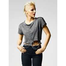 Urban Classics T-Shirt Damen Cutted Cropped Shirt TB-1275...