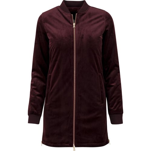 Urban Classics Jacke Damen Long Velvet Zip Jacket TB-1364
