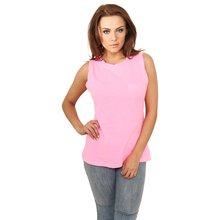 d9edb3fec7ac35 Urban Classics T-Shirt Damen Ärmelloses Shirt mit Brusttasche TB-702  Neonpink XL